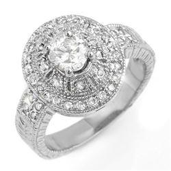 1.33 CTW Certified VS/SI Diamond Ring 14K White Gold - REF-214Y5K - 13968