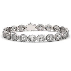 15.20 CTW Oval Diamond Designer Bracelet 18K White Gold - REF-2801H3A - 42707