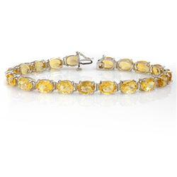 25.67 CTW Citrine Bracelet 10K White Gold - REF-57T3M - 14291