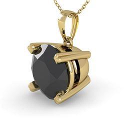1.50 CTW Black Diamond Designer Necklace 14K Yellow Gold - REF-49F5N - 38426