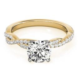 1.25 CTW Certified VS/SI Diamond Solitaire Ring 18K Yellow Gold - REF-364M2H - 27851
