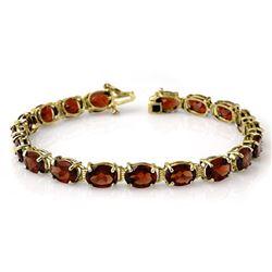 28.0 CTW Garnet Bracelet 10K Yellow Gold - REF-62A2X - 14231