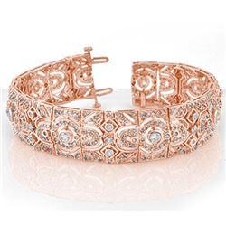 8.0 CTW Certified VS/SI Diamond Bracelet 14K Rose Gold - REF-579X5T - 11471