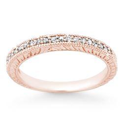 0.20 CTW Certified VS/SI Diamond Ring 14K Rose Gold - REF-33K5W - 13652