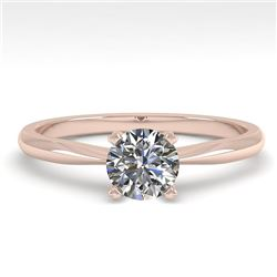 0.54 CTW VS/SI Diamond Engagement Designer Ring 18K Rose Gold - REF-100N8Y - 32384