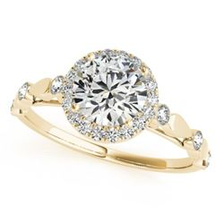 1.25 CTW Certified VS/SI Diamond Solitaire Halo Ring 18K Yellow Gold - REF-369Y3K - 26415