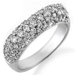 1.25 CTW Certified VS/SI Diamond Ring 18K White Gold - REF-108H2A - 10556
