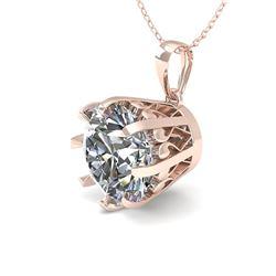1.50 CTW Certified VS/SI Diamond Necklace 18K Rose Gold - REF-522N2Y - 35726