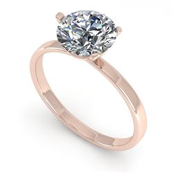 1.50 CTW Certified VS/SI Diamond Engagement Ring Martini 14K Rose Gold - REF-511Y5K - 38331