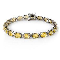 16.40 CTW Citrine Bracelet 10K White Gold - REF-46F5N - 13804