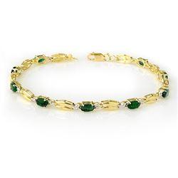 2.70 CTW Emerald Bracelet 10K Yellow Gold - REF-45X5T - 11782