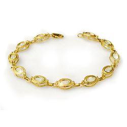 5.40 CTW Aquamarine Bracelet 10K Yellow Gold - REF-48K9W - 14064