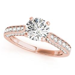 1.35 CTW Certified VS/SI Diamond Solitaire Ring 18K Rose Gold - REF-225X8T - 27523