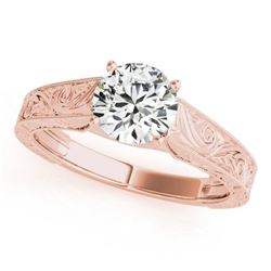 1 CTW Certified VS/SI Diamond Solitaire Wedding Ring 18K Rose Gold - REF-297W2F - 27811