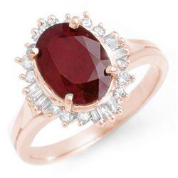 2.55 CTW Ruby & Diamond Ring 14K Rose Gold - REF-62H2A - 13120