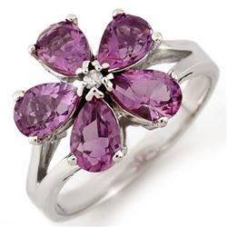 2.52 CTW Amethyst & Diamond Ring 10K White Gold - REF-20Y8K - 11049