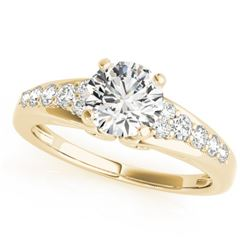 1.15 CTW Certified VS/SI Diamond Solitaire Ring 18K Yellow Gold - REF-208X2T - 27608