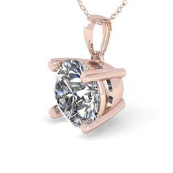 1 CTW VS/SI Diamond Designer Necklace 18K Rose Gold - REF-274W5F - 32351