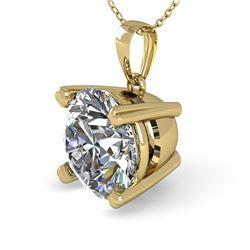 1.50 CTW VS/SI Diamond Designer Necklace 14K Yellow Gold - REF-513H3A - 38423