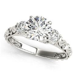 1 CTW Certified VS/SI Diamond 3 Stone Solitaire Ring 18K White Gold - REF-186K4W - 28041