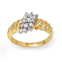 0.25 CTW Certified VS/SI Diamond Ring 10K Yellow Gold - REF-26T5M - 14399