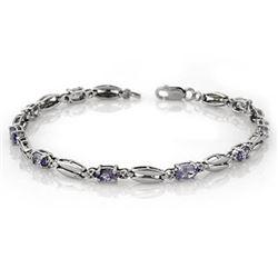 2.0 CTW Tanzanite Bracelet 10K White Gold - REF-47K3W - 10055