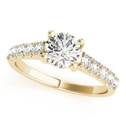 2.1 CTW Certified VS/SI Diamond Solitaire Ring 18K Yellow Gold - REF-588K6W - 28136