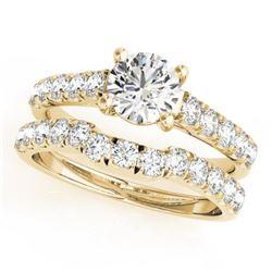 1.97 CTW Certified VS/SI Diamond 2Pc Set Solitaire Wedding 14K Yellow Gold - REF-519W3F - 32092