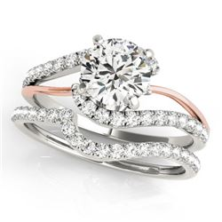 1.62 CTW Certified VS/SI Diamond Bypass Wedding 14K White & Rose Gold - REF-384N8Y - 31821