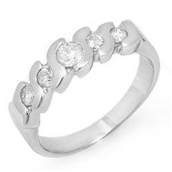 0.50 CTW Certified VS/SI Diamond Ring 14K White Gold - REF-50M9H - 11440