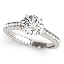 1.5 CTW Certified VS/SI Diamond Solitaire Ring 18K White Gold - REF-385N6Y - 27528