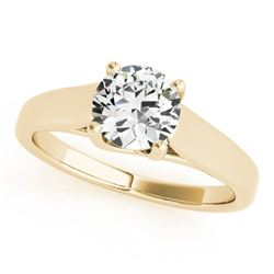 0.5 CTW Certified VS/SI Diamond Solitaire Ring 18K Yellow Gold - REF-104N9Y - 28148