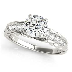 0.7 CTW Certified VS/SI Diamond Solitaire Ring 18K White Gold - REF-114F5N - 27531
