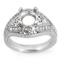 0.33 CTW Certified VS/SI Diamond Ring 14K White Gold - REF-51W6F - 11356
