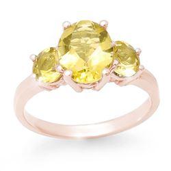 2.55 CTW Citrine Ring 10K Rose Gold - REF-21M3H - 13670