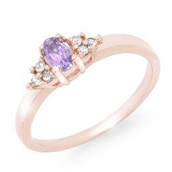 0.31 CTW Tanzanite & Diamond Ring 10K Rose Gold - REF-19N5Y - 13365