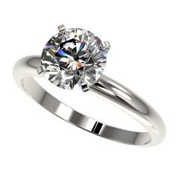 2 CTW Certified H-SI/I Quality Diamond Solitaire Engagement Ring 10K White Gold - REF-615T2M - 32932