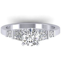 1.69 CTW Certified VS/SI Diamond Solitaire Ring 14K White Gold - REF-392Y8K - 30393