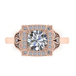 1.75 CTW Solitaire Certified VS/SI Diamond Ring 14K Rose Gold - REF-496W4F - 38554
