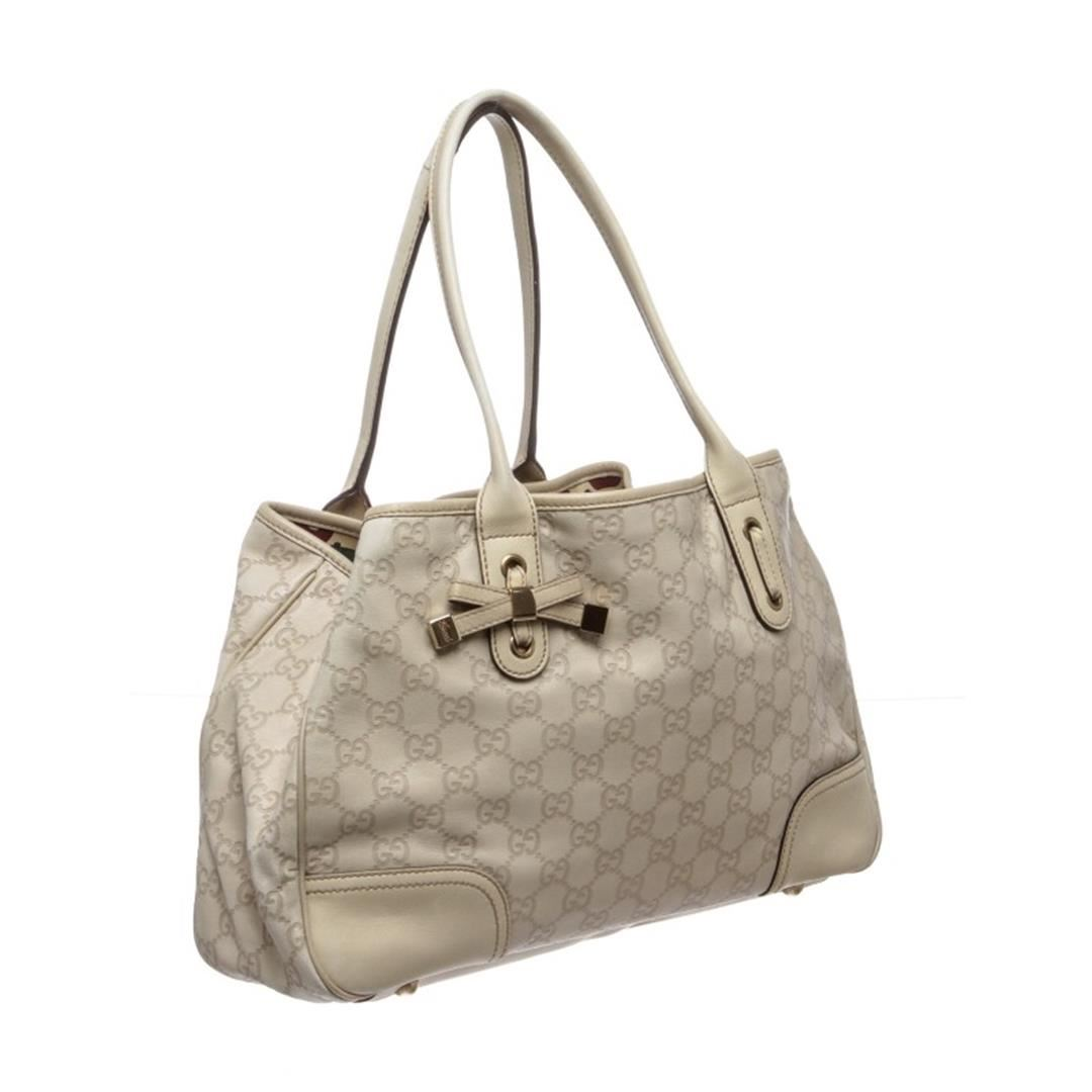 044d04f85 Gucci Ivory Guccissima Leather Princy Tote Bag