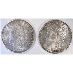 1886 & 1900 MORGAN DOLLARS, CH BU ORIGINALS