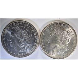 1883-O & 1898-0 CH BU MORGAN DOLLARS