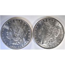 1900 & 1904-O CH BU MORGAN DOLLARS