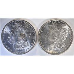 1885-O & 1899-O CH BU MORGAN DOLLARS
