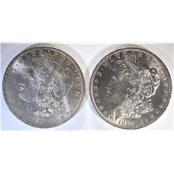 1884-O & 1896 CH BU MORGAN DOLLARS