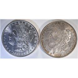 1888 & 1897 CH BU MORGAN DOLLARS
