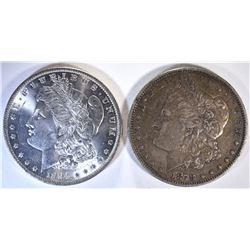 1878-S XF & 1884-O CH BU MORGAN DOLLARS