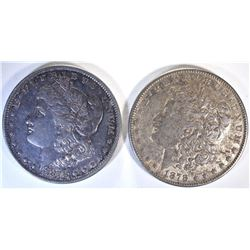 1878 REV OF 79 & 1878-S MORGAN DOLLARS BOTH XF