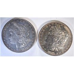 1878 7F XF/AU & 1878-S AU MORGAN DOLLARS