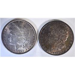 1888 & 1896 CH BU ORIGINAL MORGAN DOLLARS